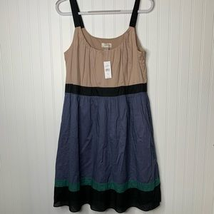 Ann Taylor LOFT sleeveless colorblock dress 12